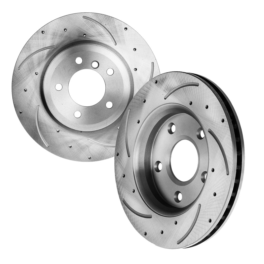 Full Set Front Discs Brake Rotors Fit Ford Explorer Sport